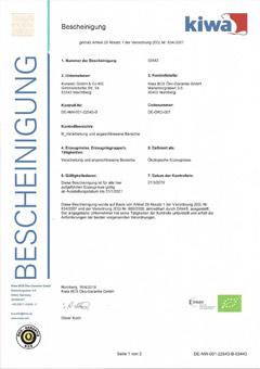 Konesto Bio Zertifikat